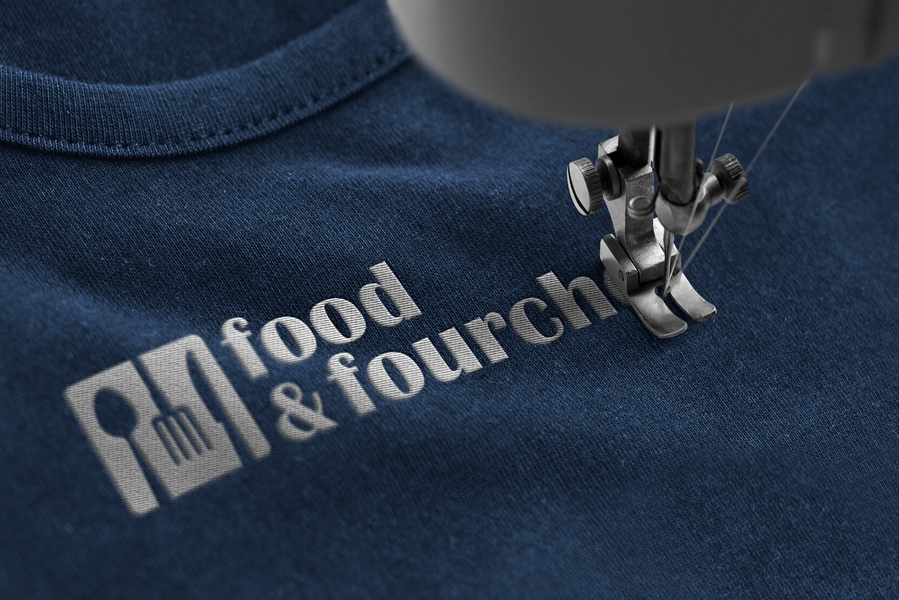 Broderie food & fourche