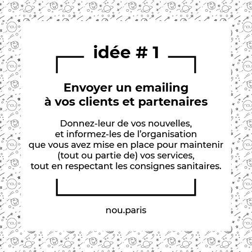 Idée #1 Envoyer un emailing à vos clients et partenaires