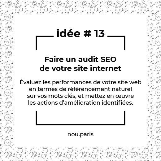 Idée #13 Faire un audit SEO de votre site internet