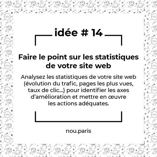 Idée #14 Faire le point sur les statistiques de votre site web