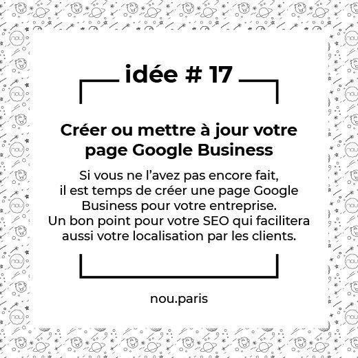 Idée #17 Créer ou mettre à jour votre page Google Business