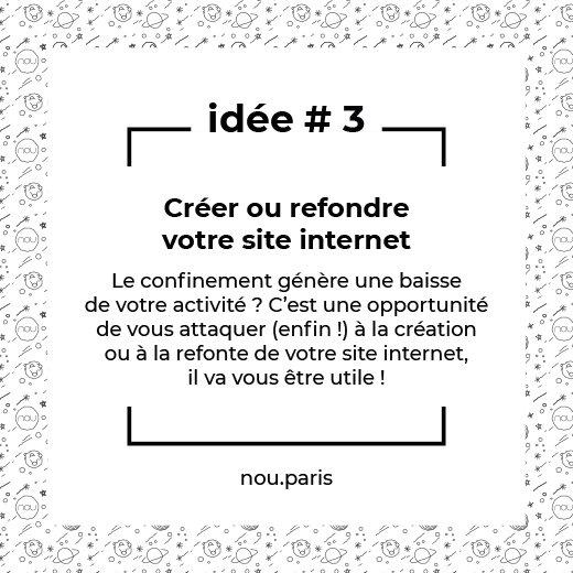 Idée #3 Créer ou refondre votre site internet