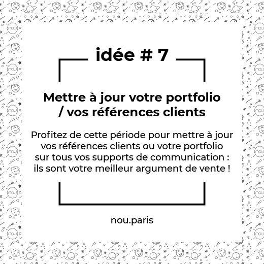 Idée #7 Mettre à jour votre portfolio / vos références clients
